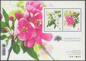 Canada - *NEW* Crabapple Blossoms Souvenir Sheet (Flowers) - MNH