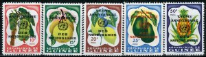 Guinea MNH 209-13 Fruit With United Nations Overprint