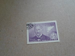 STAMP OF CHILE USED. NO HINGE MARKS. SC. # 383