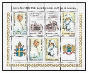 1999-Mi RO 5410-5413KB-Visit of Pope John Paul II to Romania