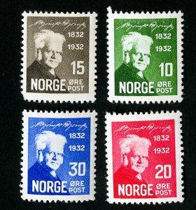 Norway Stamps # 132-5 VF OG NH Catalog Value $85.00
