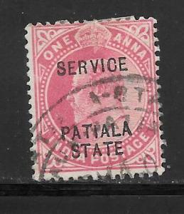 India Convention States Patiala #O21 Used Single
