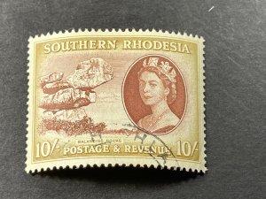 SOUTHERN RHODESIA # 93-USED---SINGLE---1953