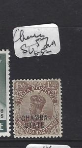 INDIA CHAMBA   (PP0707B)  KGV  1 1/2A   SG 57   MOG