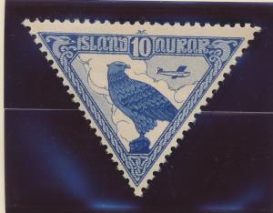 Iceland Stamp Scott #C3, Mint Hinged - Free U.S. Shipping, Free Worldwide Shi...