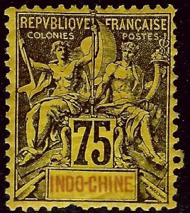 Indo-China Sc #19 Mint F-VF SCV$25...French Colonies are Hot!