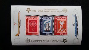 50th anniversary of EUROPA stamps - Suriname 1x Bl perf ** MNH