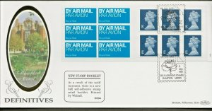 4/7/2002 £2.22 NEW DESIGN COLOUR CODED, OVERSEAS RATE 6 x 'E' CYL.NO.BOOKLET FDC