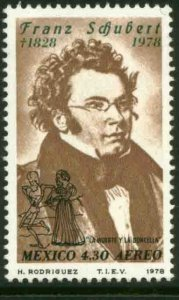 MEXICO C587 150th Anniv of the death of Franz Schubert MINT, NH. VF.