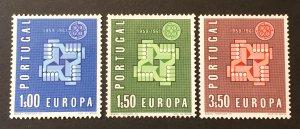 Portugal 1961 #875-7, MNH & MH,  CV $3.25