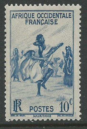 French West Africa # 36  Rifle Dance  (1) Unused VLH
