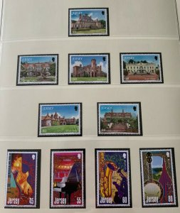 JE60) Jersey 2014 Musical Instruments set of 4 & Manor House set of 6 MUH