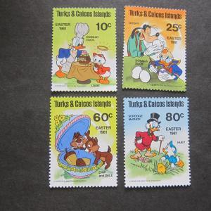 Turks & Caicos 1981 Sc 476-79 Disney set MNH