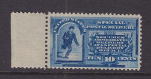 US Sc E1 MLH. 1885 10c Special Delivery Sheet Margin Single VF+, PF Cert