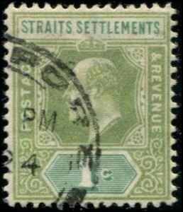Straits Settlements SC# 93 Edward VII 1c Used