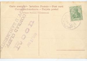 Seapost 1909 Australische Hauptlinie  R.P.D. Roon , PPC Messina Eartquake