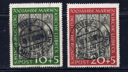 Germany B316-17 Used 1951 set