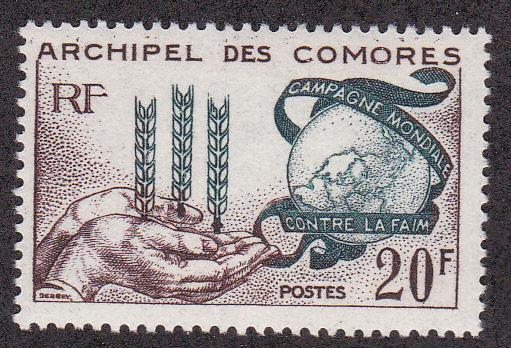 Comoros Isl. # 54 Freedom from Hunger, Mint H, 1/2 Cat.