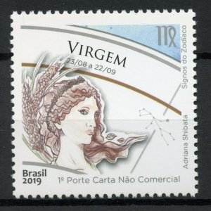 Brazil Astrology Stamps 2019 MNH Zodiac Star Signs Virgo Astrological 1v Set