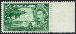 CAYMAN ISLANDS 1938 KGVI BEACH VIEW 2/- MNH **
