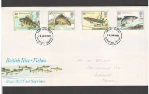 UNITED KINGDOM: #29 - FDC / RIVER FISHES IN BRITAIN  / Fine Used-Offered AS IS.