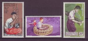 J15749 JLstamps 1957 laos mh set #c24-6 music
