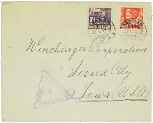 93704 - DUTCH INDIES Indonesia - POSTAL HISTORY - CENSORED cover to USA 1940