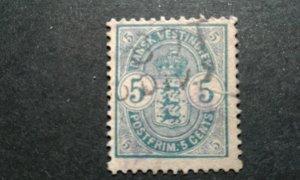 Danish West Indies #22 used tear e208 10648