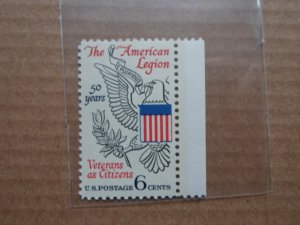 6 CENT STAMP THE AMERICAN LEGION SC # 1369