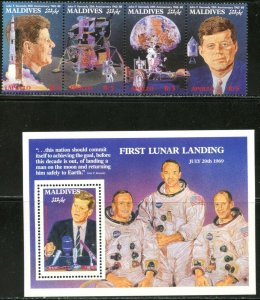 MALDIVE IS. Sc#1309-1310 1989 Kennedy-Space Achievements Complete Set OG MNH