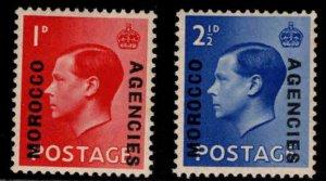 Great Britain, Morocco Scott 244-245 MNH** 1936 overprint