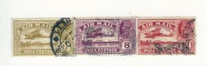 India, C4-C6, Plane over Lake Airmail Singles, Used