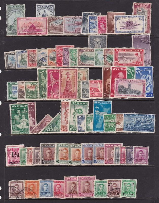 New Zealand a selection of late pre decimal used