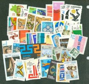 selection Brazil 1971-72 mint 44 different CV $46