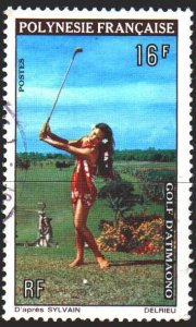 French polynesia. 1974. 94 from the series. Cricket, sport. USED.
