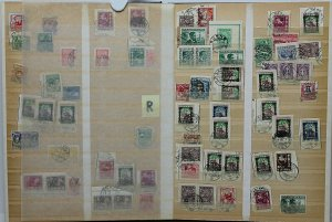 Lithuania 1920's/30's specialised collection of cancellations on definiti Stamps