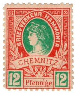 (I.B) Germany Local Post : Chemnitz 12pf