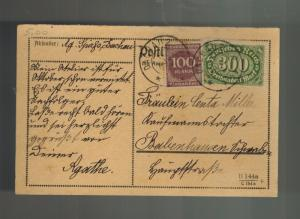 1923 Dachau Germany Inflation Postcard Cover to babnehausen