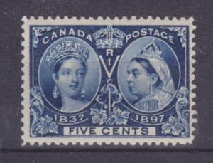 Canada Sc 54 MNH. 1897 5c deep blue QV Jubilee