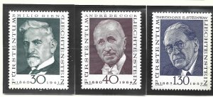 Liechtenstein Stamps Scott #509 To 511, Mint Lightly Hinged