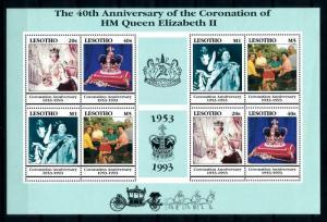[97792] Lesotho 1993 Royalty Queen Elizabeth Coronation Anniv. Full Sheet MNH