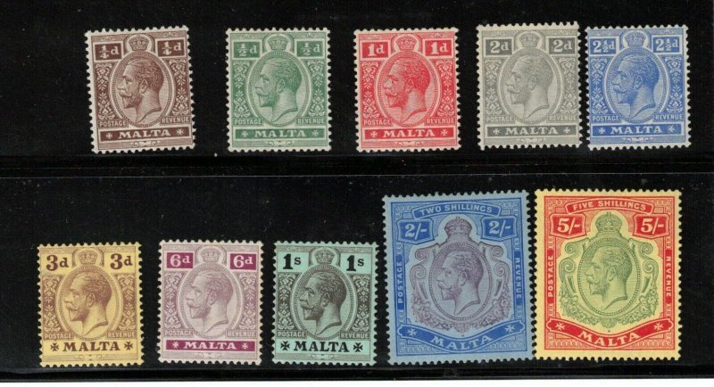Malta #49 / #61 Mint Fine - Very fine Never Hinged (Except #49 & #60)