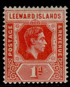 LEEWARD ISLANDS GVI SG98, 1d scarlet, M MINT. Cat £14. DIE A