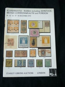 GIBBONS AUCTION CATALOGUE 1970 SCANDINAVIA & RUSSIA WITH ZEMSTVOS ETC