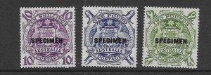 Australia 219-21 1949  3 issues OP specimen