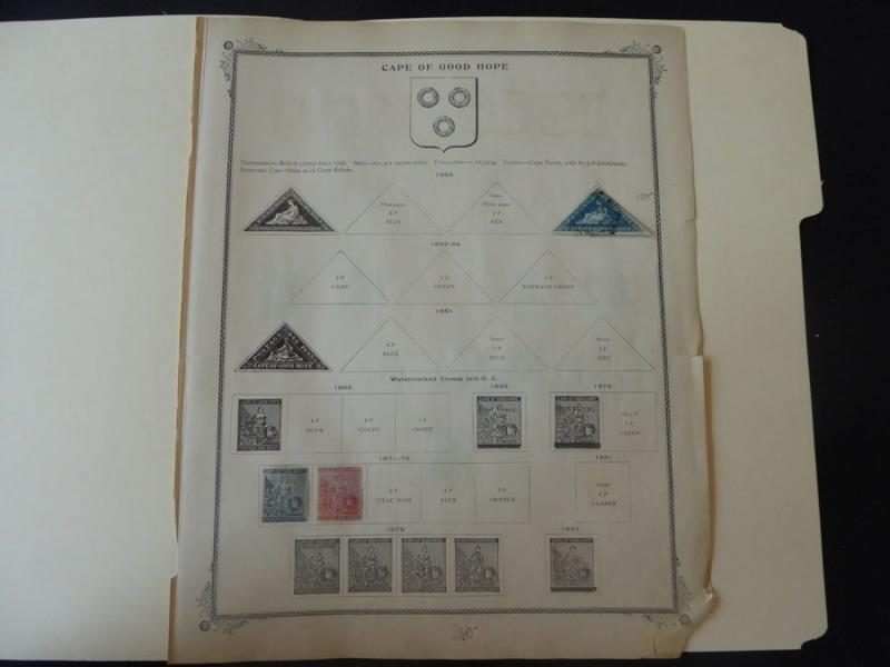 Cape of Good Hope to 1932 Mint Stamp Collection on Scott Intl Album Pages