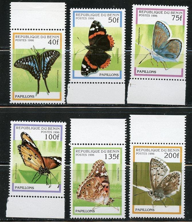Benin MNH 801-6 Beautiful Butterflies 1996