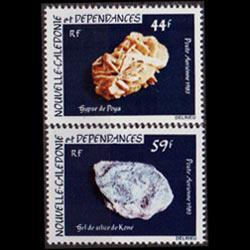 NEW CALEDONIA 1983 - Scott# C187-8 Minerals Set of 2 NH