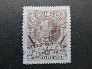 A4P31F88 Bolivia Revenue Stamp 1885 40c used