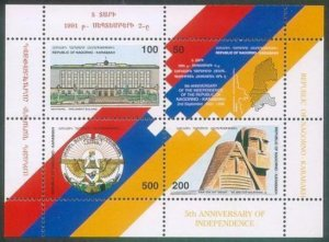 FREE SHIPPING NAGORNO KARABAKH ARMENIA 1996 SS CORRECT COLORS FLAG MNH R17299n